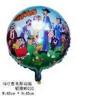 wholesale 10pcs/lot 45*45cm chavez foil balloon cartoon helium ballons ,birthday party supplies free shipping