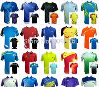 free print your name or logo 1 set  new style yonex  badminton jersey man t-shirts shorts pants yy badminton shirts badminton