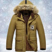 Men's Coat Winter Long Down Jacket Ovo Collar Jackets Thicker Plus size 3XL Fur Collar Duck Down Coat Men'S Brand Jackets XG-151