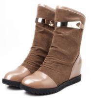 2014 women fashion boots winter shoes skull elevator short boots women's shoes fashion flat heel free shipping