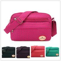 Wholesale supply of Korean wave point cloth packet Shoulder Messenger bag handbag color to rest