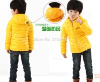 New arrival 2014 Childrenwear children coat Korean jacket natural cotton padded jacket six color boy coat girls winter coat
