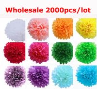 Wholesale 2000pcs Multicolour Tissue Paper Pom Poms Flower Balls Dia 8'' 20cm Party Birthday Wedding Decors Free Shipping