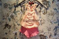 Shipping Wholesale (5 Size/Lot) New 2014 Childrens Kids Girls Summer Fashion  Sweet Pink Short