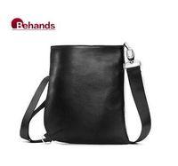 2014 Man Bags Real Leather Handbags Casual Men Shoulder Bag 3 Colors Purses BH3702 Free Drop Shipping