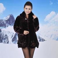 imitation mink coat jacket Hot winter long section  cashmere coat warm imitation mink coat fur imitation mink cashmere  #180019