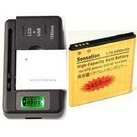 High Capacity Battery BG58100 &Charger For HTC Sensation 4G G14 2450 mAh