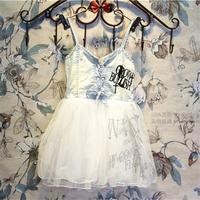 Free Shipping Wholesale (5 Size/Lot) New 2014 Childrens Kids Girls Summer Fashion  Cowboys Fight Gauze Dress