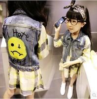 Free Shipping Wholesale (5 Size/Lot) New 2014 Childrens Kids Girls Autumn Fashion  Cute Plaid Long-Sleeved Dress