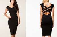 New 2014 part dresses summer women sexy club wear Bodycon bandage dress ladies Evening Elegant Cross braces celebrity dresses