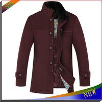 2014 TOP Quality Men Jackets Brand Fur Collar Jaqueta Mens Overcoat Autumn Winter Jacket Men's Coats Plus Size Supreme Jacket