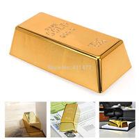 Gold Bar Bullion Heavy Door Stop Door Stopper Wedge Paper Weight Novelty Gift