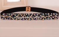 Rhinestone Womens Elastic Belts, Women wild retro  crystal high-grade drill belt & waist belt , waist closure fashion belt