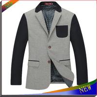 2014 NEW Arrival Fashion Mens Suit Men Blazer Jacket Woolen Brand Men's Coat Fit Slim Casual Jackets For Men Suits Jacket