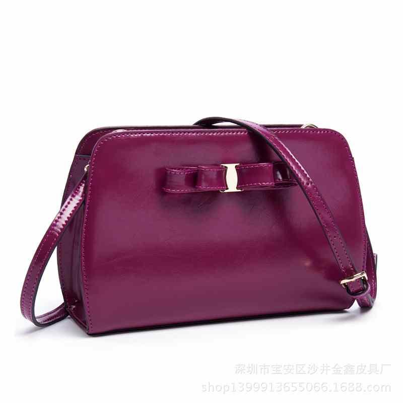 New Korean fashion leather handbags clean bow baodan women shoulder Messenger bag manufacturers to build(China (Mainland))