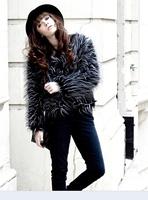 2014 autumn and winter slim peacock elegant faux wool women's long-sleeve outerwear overcoat outerwear