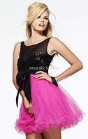 The new 2014 bridesmaid dress black short bridesmaid dress to party paragraph Mission sexy bridesmaid dresses vestido de festa