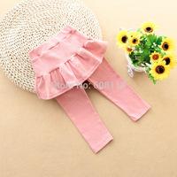 Wholesale 6pcs/lot Children Leggings Girls Culottes Full Length Boot Cut Kids Fall Clothes Acatado Roupas Infantil