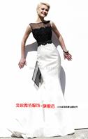 The new 2014 black mother of the bride lace dresses fishtail vestido de madrinha brides mother dresses for weddings godmother