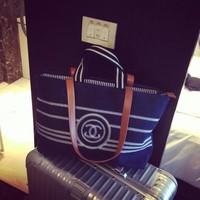 2014 popular The European and American brands Shopping bag canvas bag denim beach bags totes women handbags
