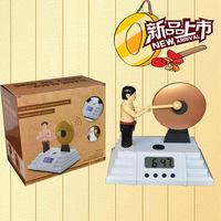 New Arrival Chinese Gong Alarm Clock Knock Gong Alarm Clock Novelty Gift Led Digital Clock