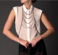 Trending Boho Long Tassel belly waist chain body chain necklace chain whole body  women