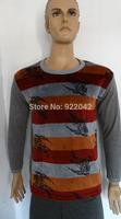 2014 winter men's thermal underwear plus velvet warm multicolor animal print suit Slim fashion cotton cold