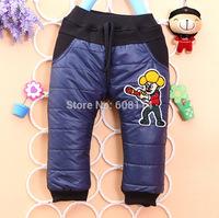 Wholesale 3pcs/lot Children Warm Pants Cartoon Dog Boys Pants Kids Winter Pants Child Wear Atacado Roupas Infantil