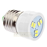 10pcs/lot New E27 E26 250-Lumen 2W 6 SMD 5630 5730 LED Light Energy Saving High Power Pure Warm White Bulb Lamp 110V AC