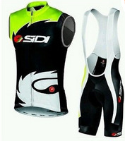 Hot Sale ! 2014 SIDI  Outdoor Bike Cycling sleeveless vest and bicicleta bib Shorts Ciclismo Clothing MTB Sportswear