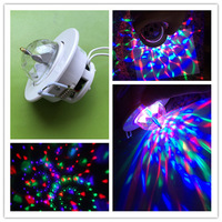 Full Color Ceiling Stage light 3W RGB LED Voice-activated Rotating Ceiling AC85-260V Stage Lamp CE/RoHS