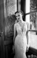 Vintage 2014 White Lace Wedding Dresses Bateau Court Train Sexy Mermaid Wedding Dress Custom Made Free Shipping  XZ0189