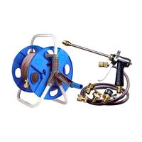 Full metal anti-icer nemas copper hose cart car wash equipment high pressure water gun +20 meter hoses