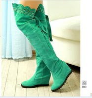 free shipping fahion long boots for women wedges boots  winter boots