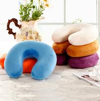 Portable U shape massage memory foam pillow,zero stress healthy U neck memory pillow home office travel respite multi color