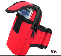 Free shipping 2014 new outdoor travel bag with arm strap purse bag phone running sports package for SAMSUNG S3/S4