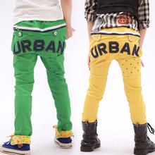 The new 2014 han edition children's wear children's cotton trousers slacks U R B letters slacks Free Shipping(China (Mainland))