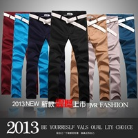 2013 new men's Korean leisure fashion pants men's slim thin comfortable cotton trousers special genuine pants free shipping