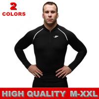 man spring 2014 MEN Long-sleeve t shirt casual shirt sports Running Fitness t-shirt men slim fit jersey M L XL XXL free shipping