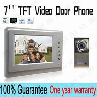 High Quality 7 inch video door phone interfone NIght camera  Metal panel doorphone rain cover free shipping
