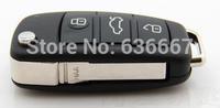 KL84 New 3 Buttons Folding Key Remote Case Shell For Audi A2 A3 A4 A6 A6L A8 TT