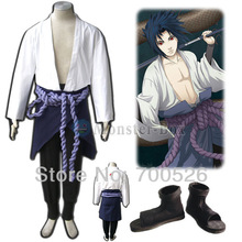 Naruto Uchiha Sasuke Cosplay Costume V3 Orochimaru Coat Belt Skirt Pants Shoes Mens Ninja Whole Set For Halloween Adult Child
