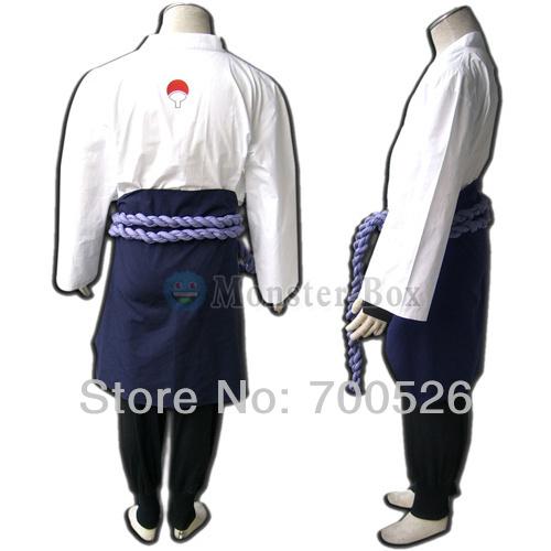 Naruto Uchiha Sasuke Cosplay Costume V3 Orochimaru Coat Belt Skirt Pants Shoes Mens Ninja Whole Set