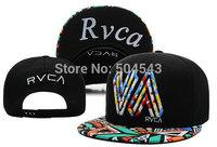 New arrival 2014 RVCA snapback cap fashion hip hop hats for man and woman sports snapbacks baseball hat 4 colors to choose