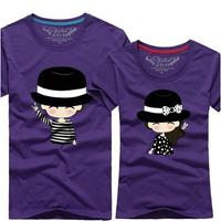12 Colors Lovers t-shirt new desigual 2014 summer slim short sleeve cartton print unisex clothing,plus size cotton t shirt.S-5XL