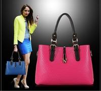 2014 new wave of Korean Quilted handbags woven handbag lady shoulder bag diagonal