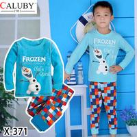 New Retail 2pcs full sleeves pajama  2014 Children Set Cartoon DUSTY PLANE fashion suit boys sets  Kids Clothing X371