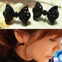 earrings Fashion black Bowknot earrings stud earrings