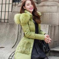 Nagymaros collar winter coat women 2014 new women's winter coat long sections Slim Down jacket cotton padded winter jacket