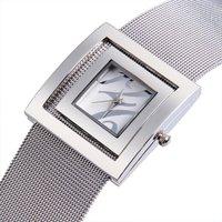 Upstart Watch& Hot Stainless Steel Net Belt Women Watches,Square Women Bracelet Watches,Business Gifts Watches